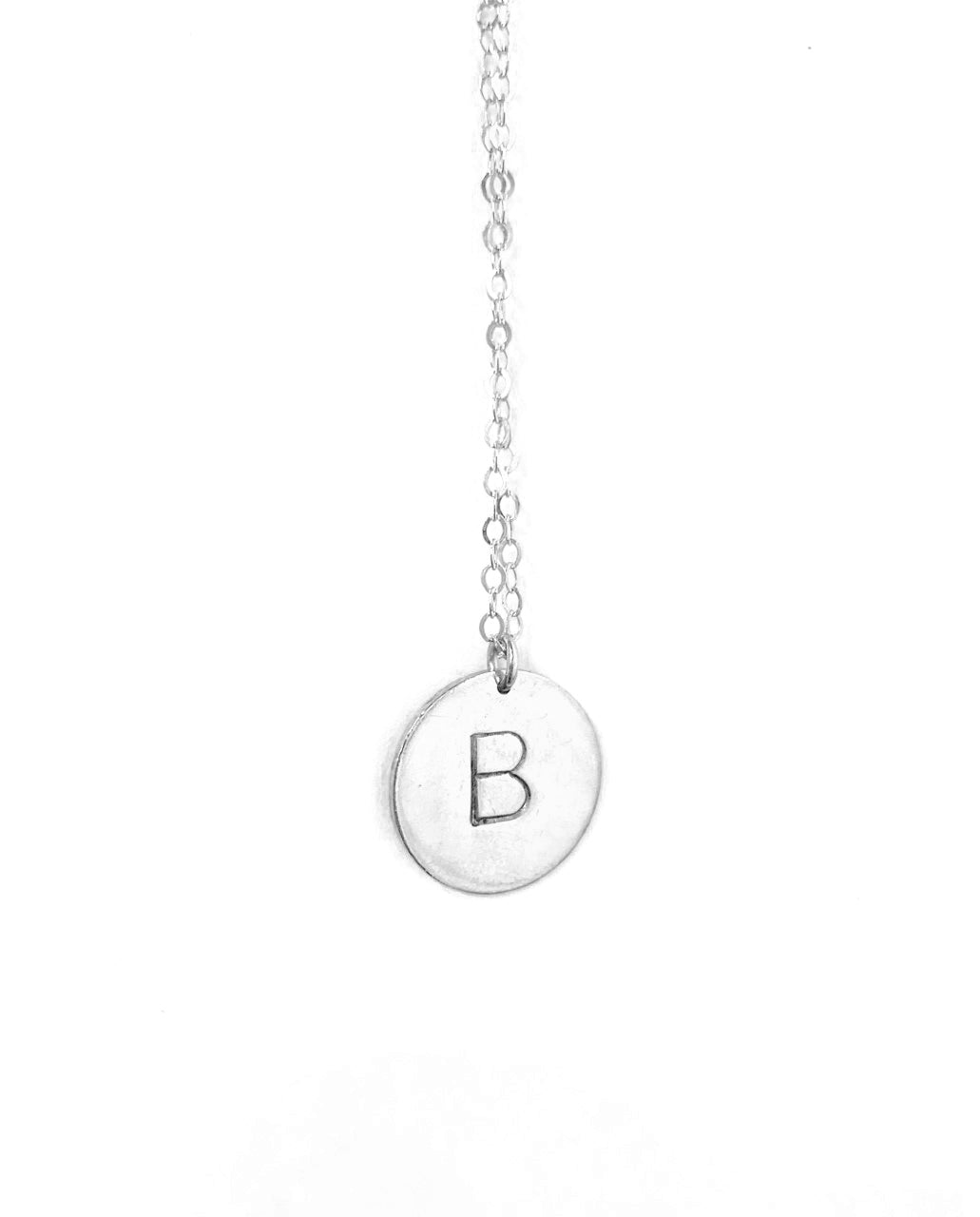 Letter Necklace-Silver