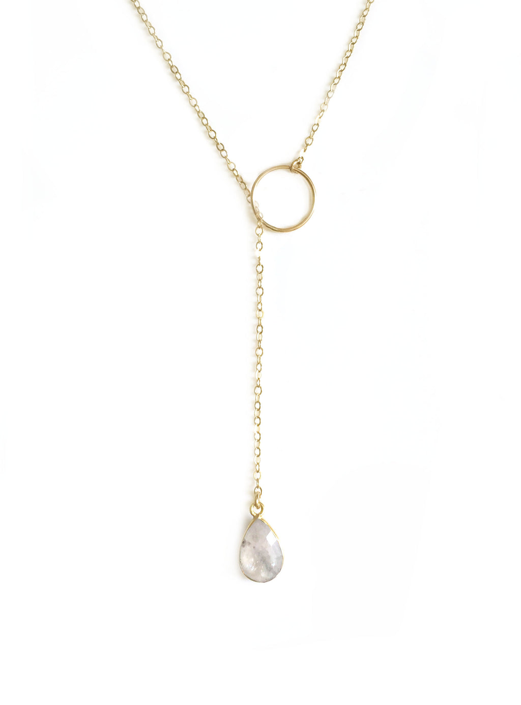 Moonstone Adjustable Lariat