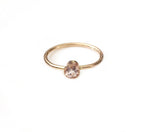 14K Gold Morganite Ring
