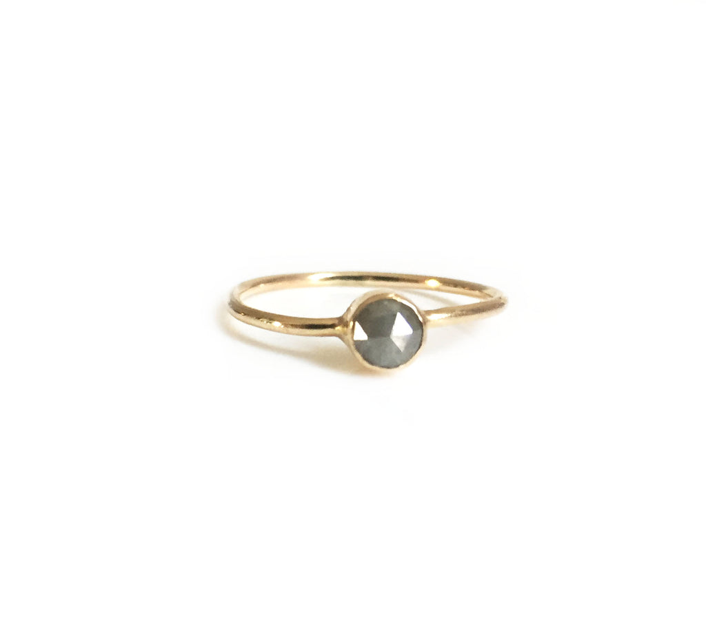 Grey Raw Diamond Ring