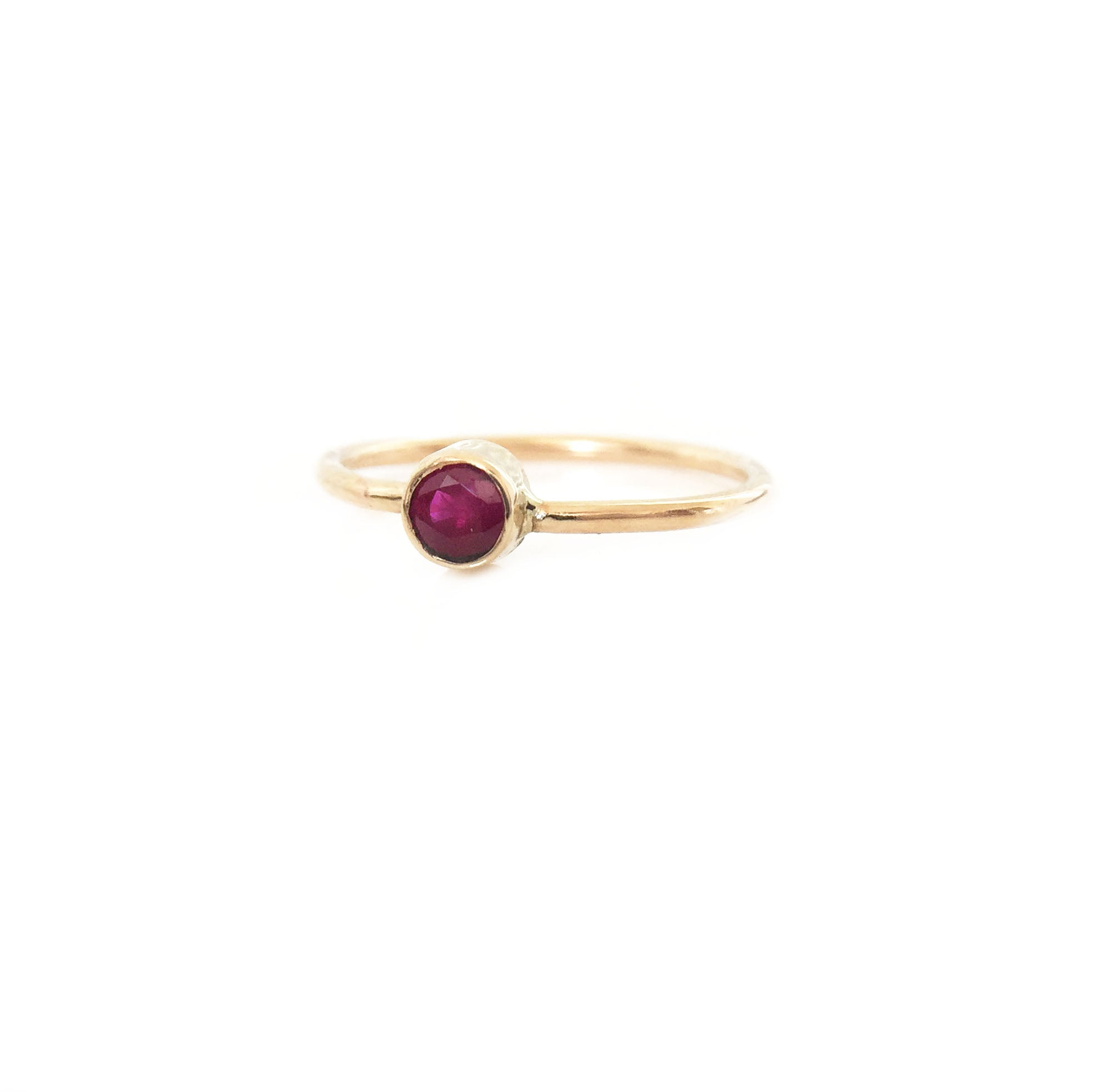14K Gold Ruby Ring