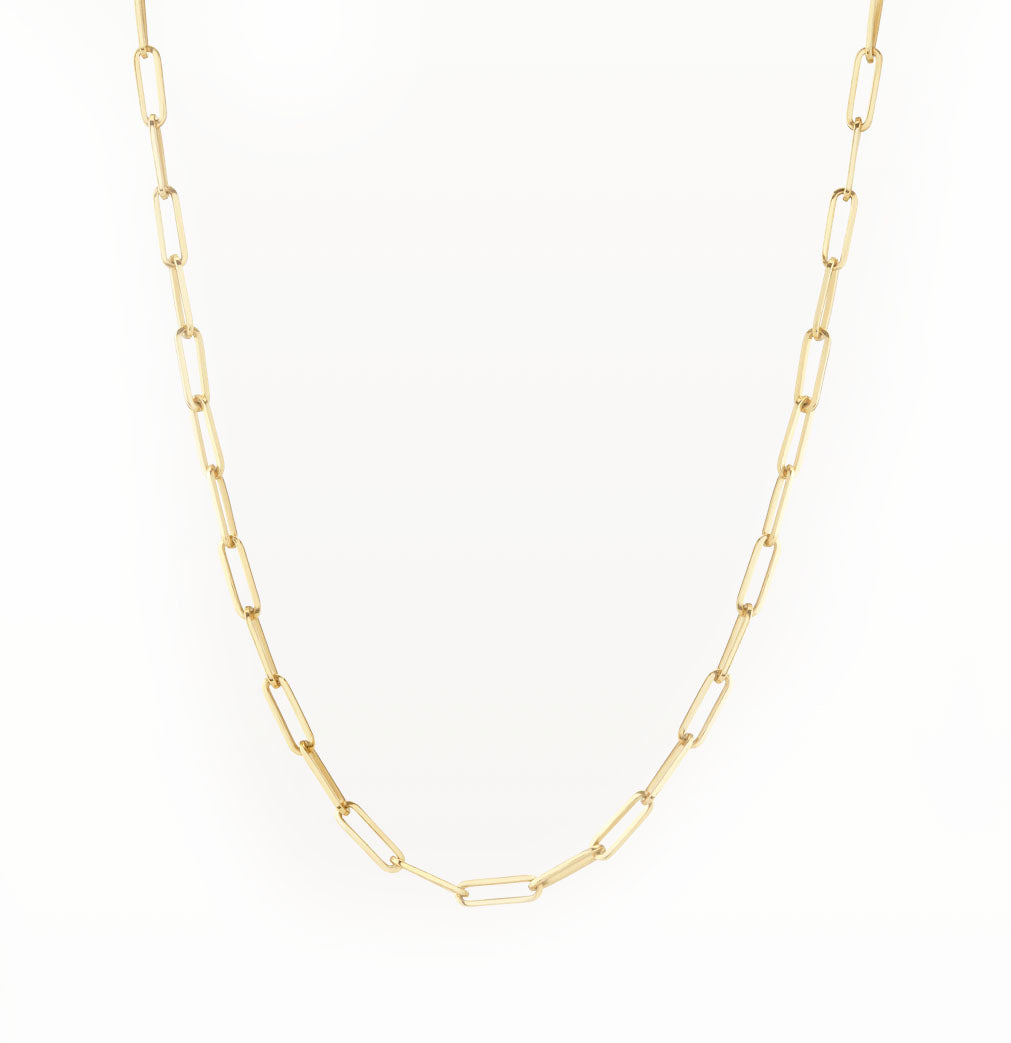 Dainty Paper Clip Chain Necklace