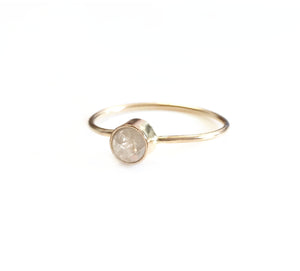 White Raw Diamond Ring