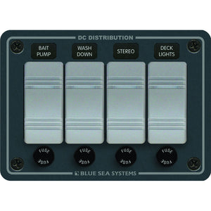 Blue Sea 8262 Waterproof Panel 4 Position - Slate Grey [8262]