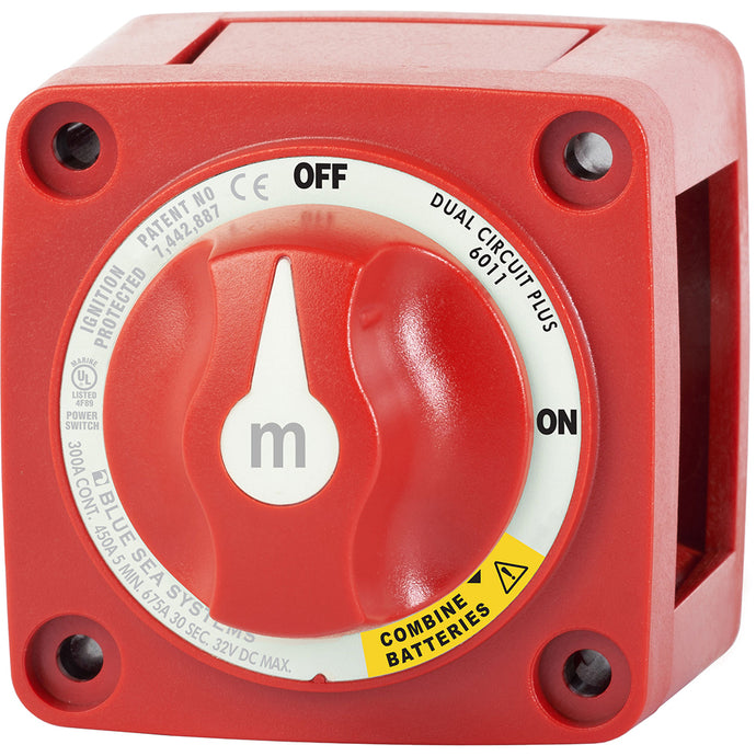 Blue Sea 6011 m-Series (Mini) Battery Switch Dual Circuit Plus [6011]