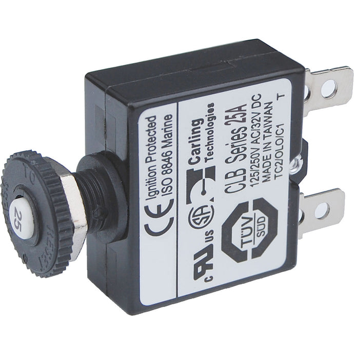 Blue Sea 7058 25A Push Button Thermal with Quick Connect Terminals [7058]