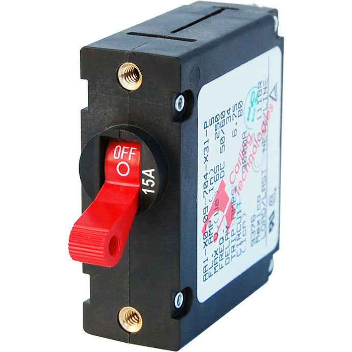 Blue Sea 7209 AC / DC Single Pole Magnetic World Circuit Breaker  -  15 Amp [7209]