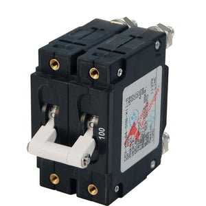 Blue Sea 7258 C-Series Double Pole Circuit Breaker - 100A [7258]