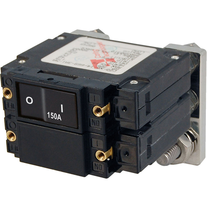 Blue Sea 7475 C-Series Flat Rocker Circuit Breakers, Single and Double Pole  -  150 Amp [7475]
