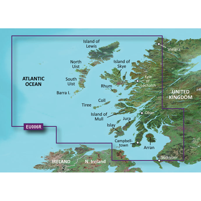 Garmin BlueChart g3 Vision HD - VEU006R - Scotland, West Coast - microSD/SD [010-C0765-00]