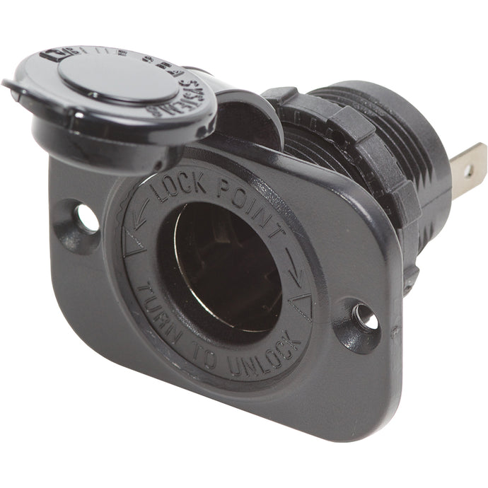 Blue Sea 12 Volt Dash Socket - Black [1011]