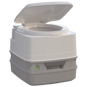 Thetford Porta Potti 260P MSD Marine Toilet 90 with Piston Pump, Level Indicator, and Hold-Down Kit [92871]