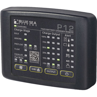Blue Sea 7520 P12 LED Remote f-Battery Chargers [7520]