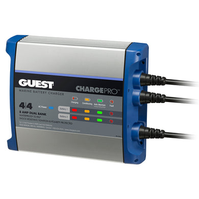 Guest On-Board Battery Charger 8A - 12V - 2 Bank - 120V Input [2707A]
