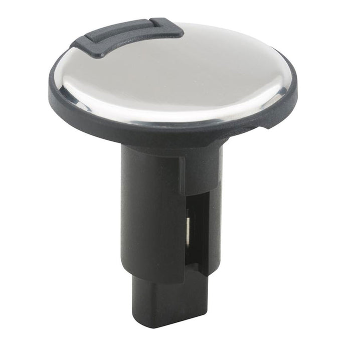 Attwood LightArmor Plug-In Base - 2 Pin - Stainless Steel - Round [910R2PSB-7]