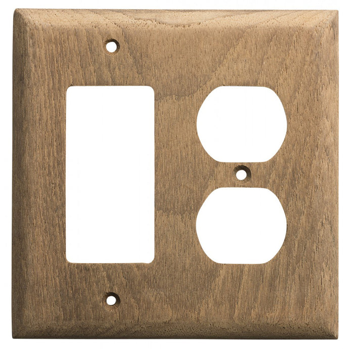 Whitecap Teak Rocker Switch/Duplex Receptacle Cover Plate [60175]