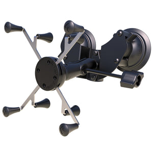 "RAM Mount Dual Suction Cup Mount w/Retention Knob  Universal RAM X-Grip Holder f/7-8"" Tablets [RAM-B-189-UN8-ALA1-KRU]"