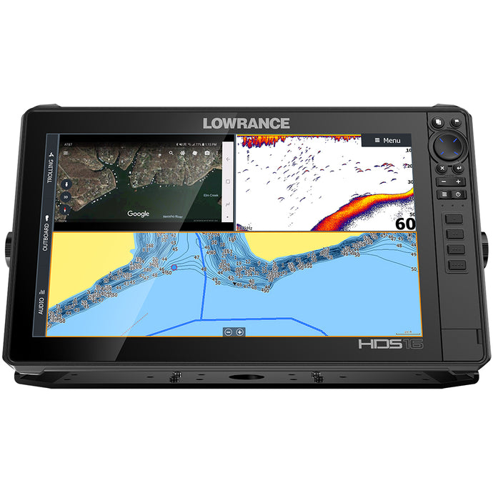 Lowrance HDS-16 LIVE w/Active Imaging 3-in-1 Transom Mount  C-MAP Pro Chart [000-14434-001]