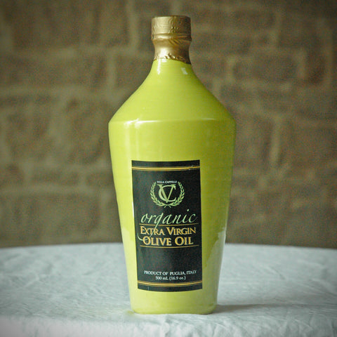Organic Extra Virgin Olive Oil — Green Bottle