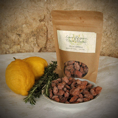 "Lemon Rosemary ""Crack"" Almonds - Villa Cappelli - 1"