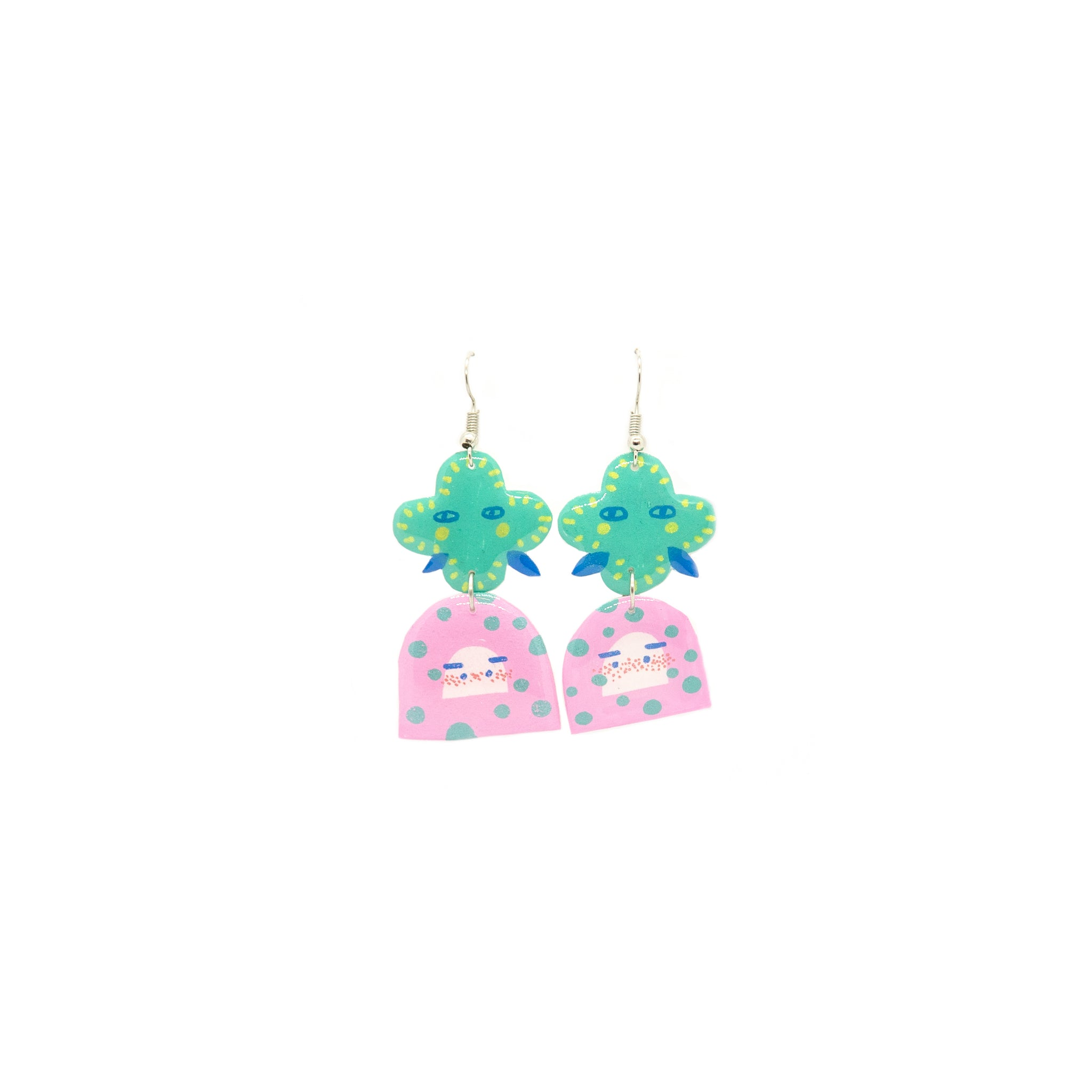 Hand Drawn Drop Earrings