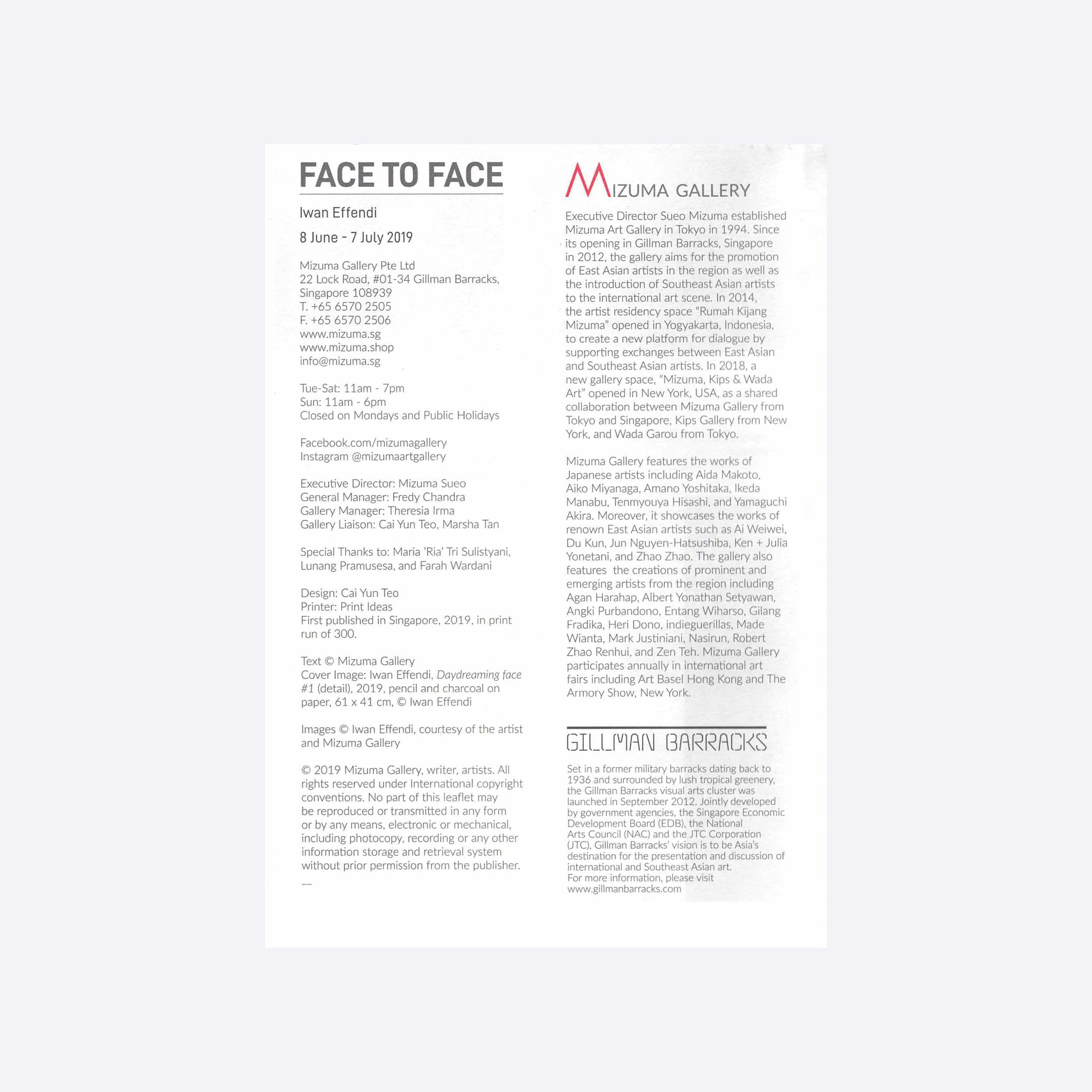 Face to Face Catalogue