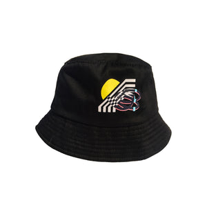 Black Bucket Hat with Pin
