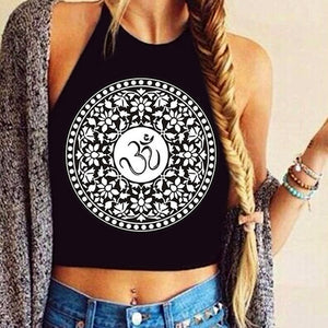Halterneck Tank Top 2017 Summer Fashion Womens Printing Sleeveless Tank Crop Tops Vest femme T-Shirt Black Camis