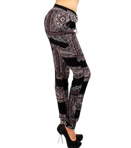 Daria Print Joggers Color-Black