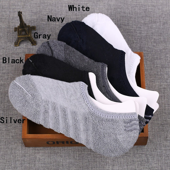 1Pairs Men Towel Bottom Pure Cotton Autumn Winter Thickening Silicone Non-slip