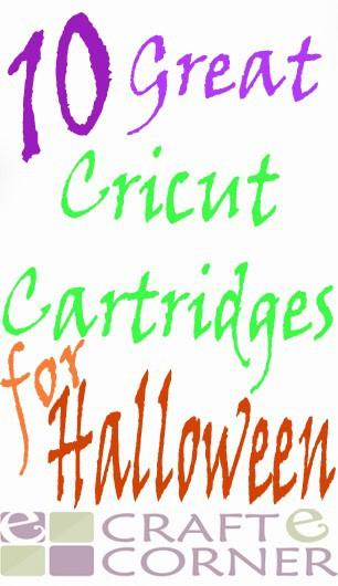 10 Great Cricut Cartridges for Halloween!