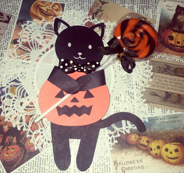 Adorable Halloween Black Cat Candy Huggers