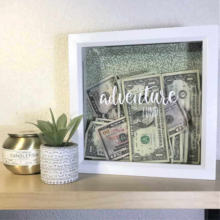 Adventure Fund Frame: Easy Cricut Gift Idea