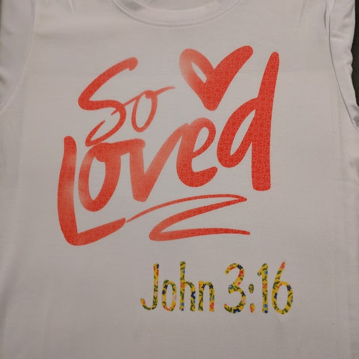 Cricut Infusible Ink T-shirt - So Loved!