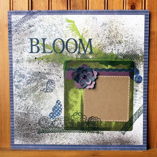 Spring Bloom Mixed Media Scrapbook Layout Plus Tips, Tricks & Techniques!