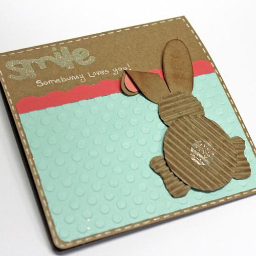 Smile! Somebunny loves you…Recycled Easter Bunny Card Tutorial.