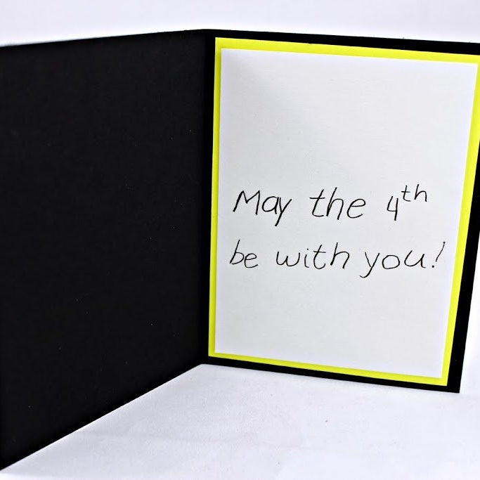 Sparkle & Shine Scrapbook Layout & May The 4th Be With You Card Tutorial