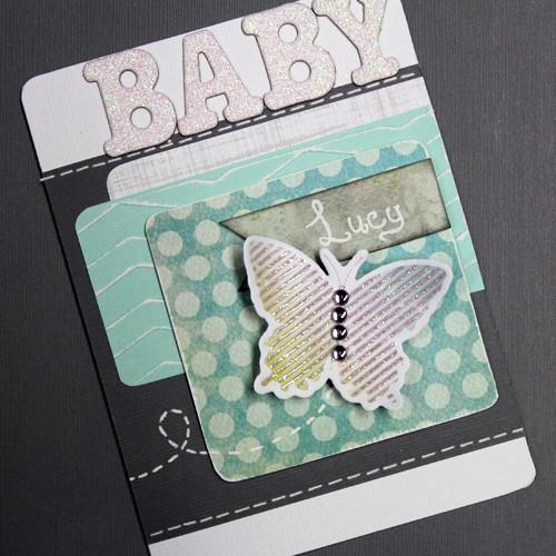 I Love Lucy! Butterfly Baby Shower Card.
