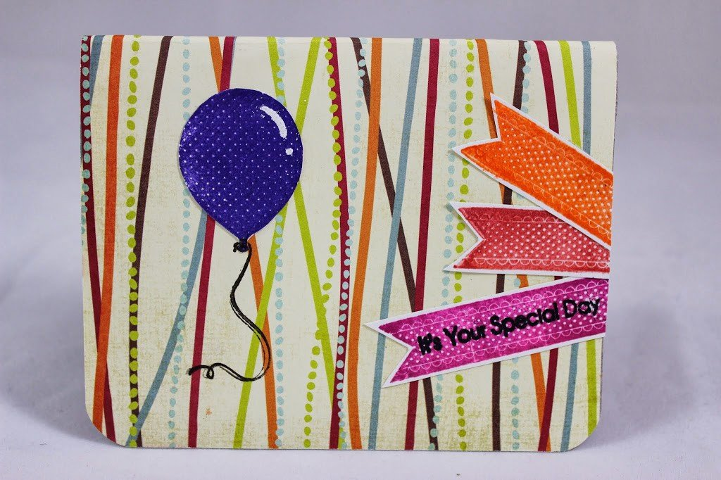 World Card Making Day Pop Up Surprise Balloon Card Tutorial
