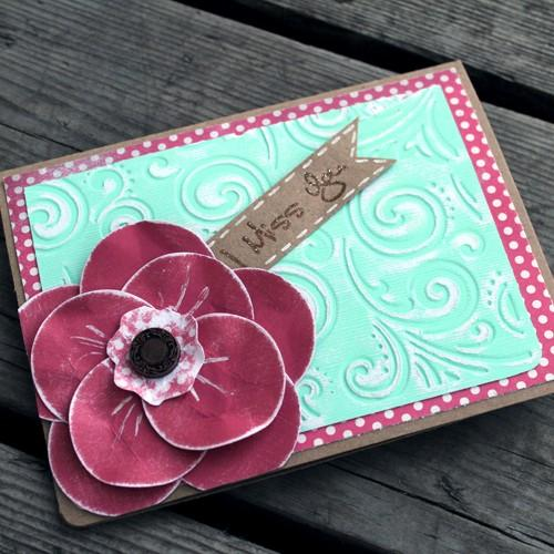 Simple Circle Punch Flower Card Tutorial & Distressing Techniques