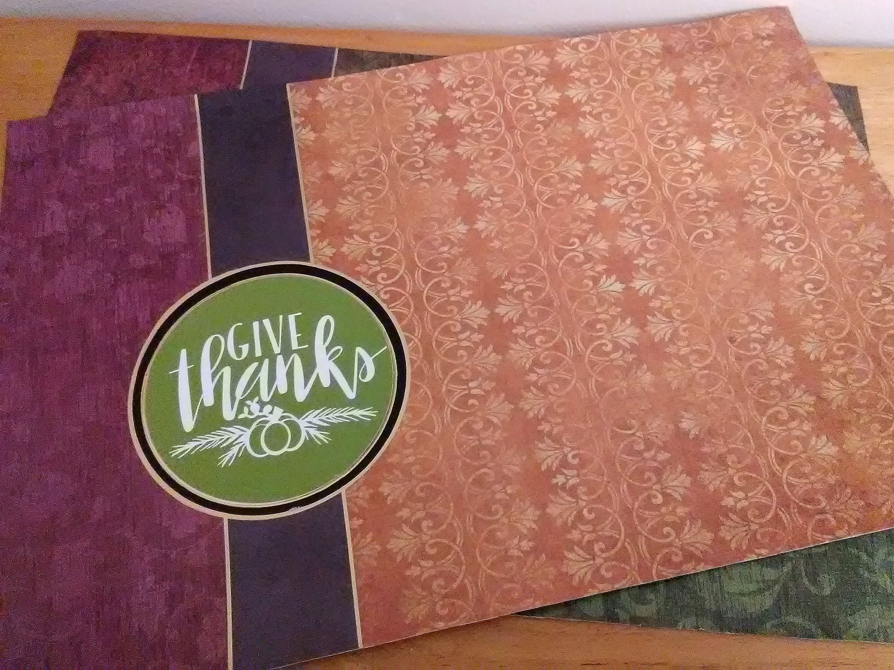 Create Thanksgiving Placemats using Decoupage and Personalized with Vinyl