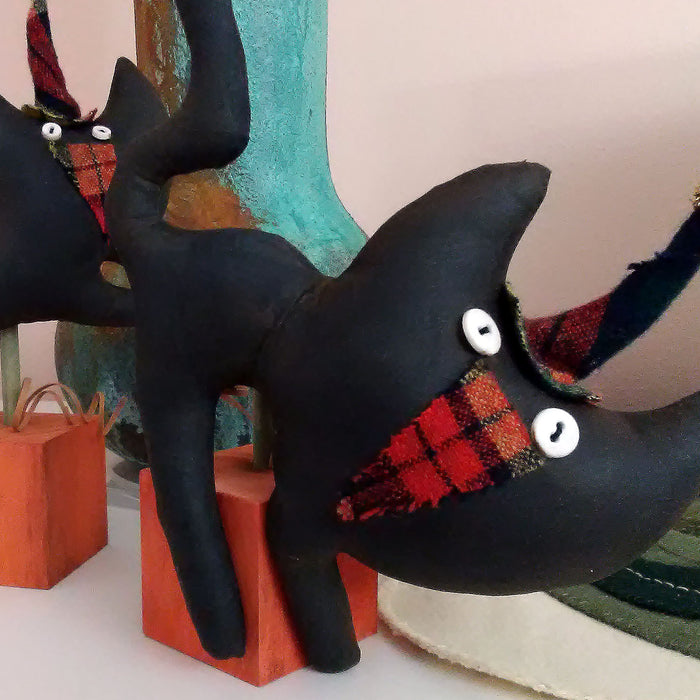 Primitive Cat Dolls for Halloween
