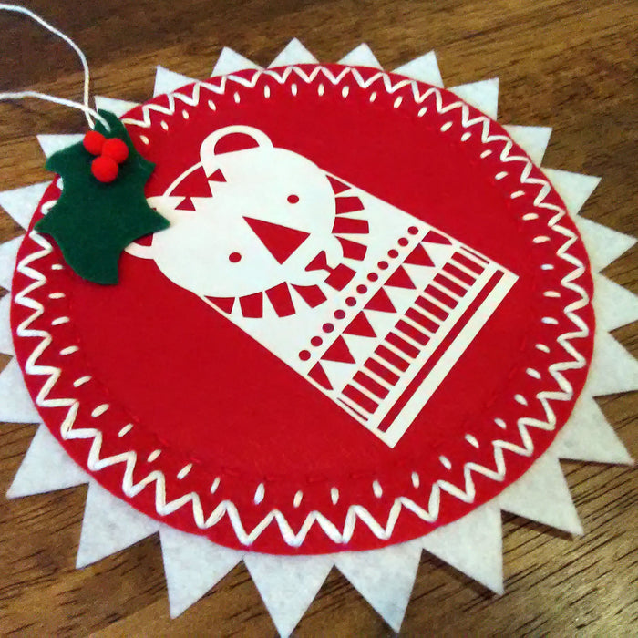 Hand Stitched Felt Christmas Ornaments using Cricut Maker