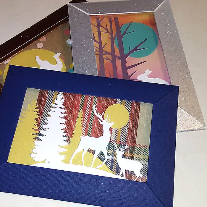 Paper Frame Card Using Cricut Acetate