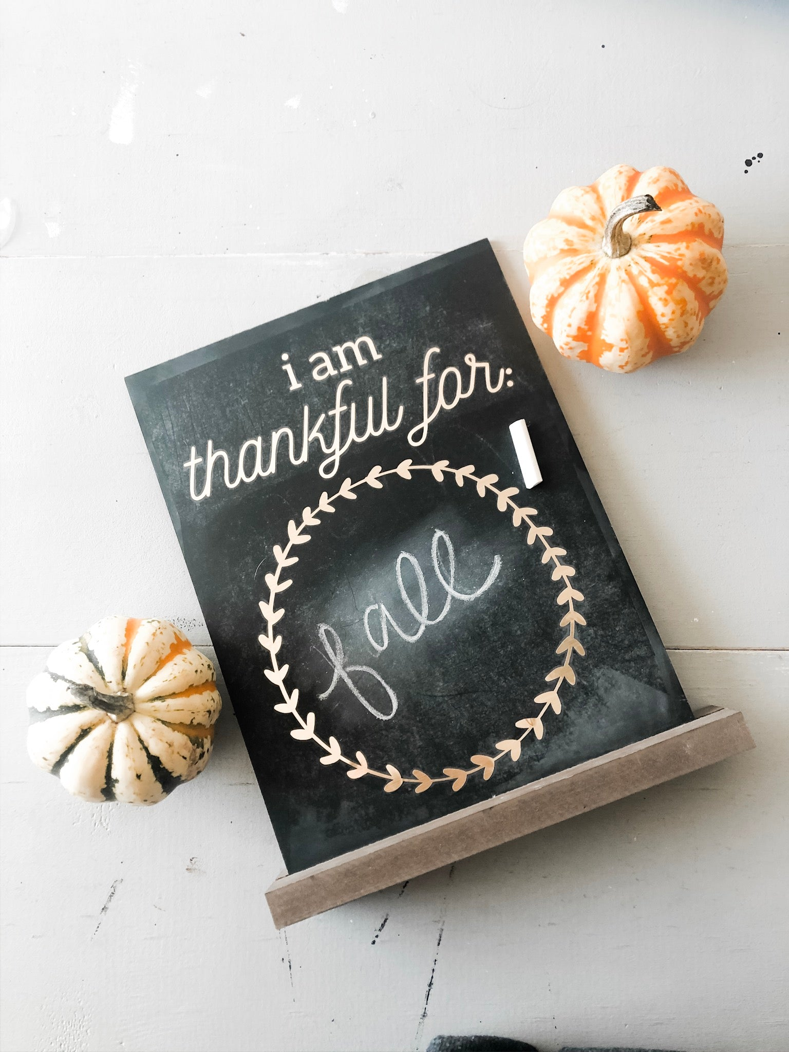 Thankful Chalkboard with Cricut Explore Air 2