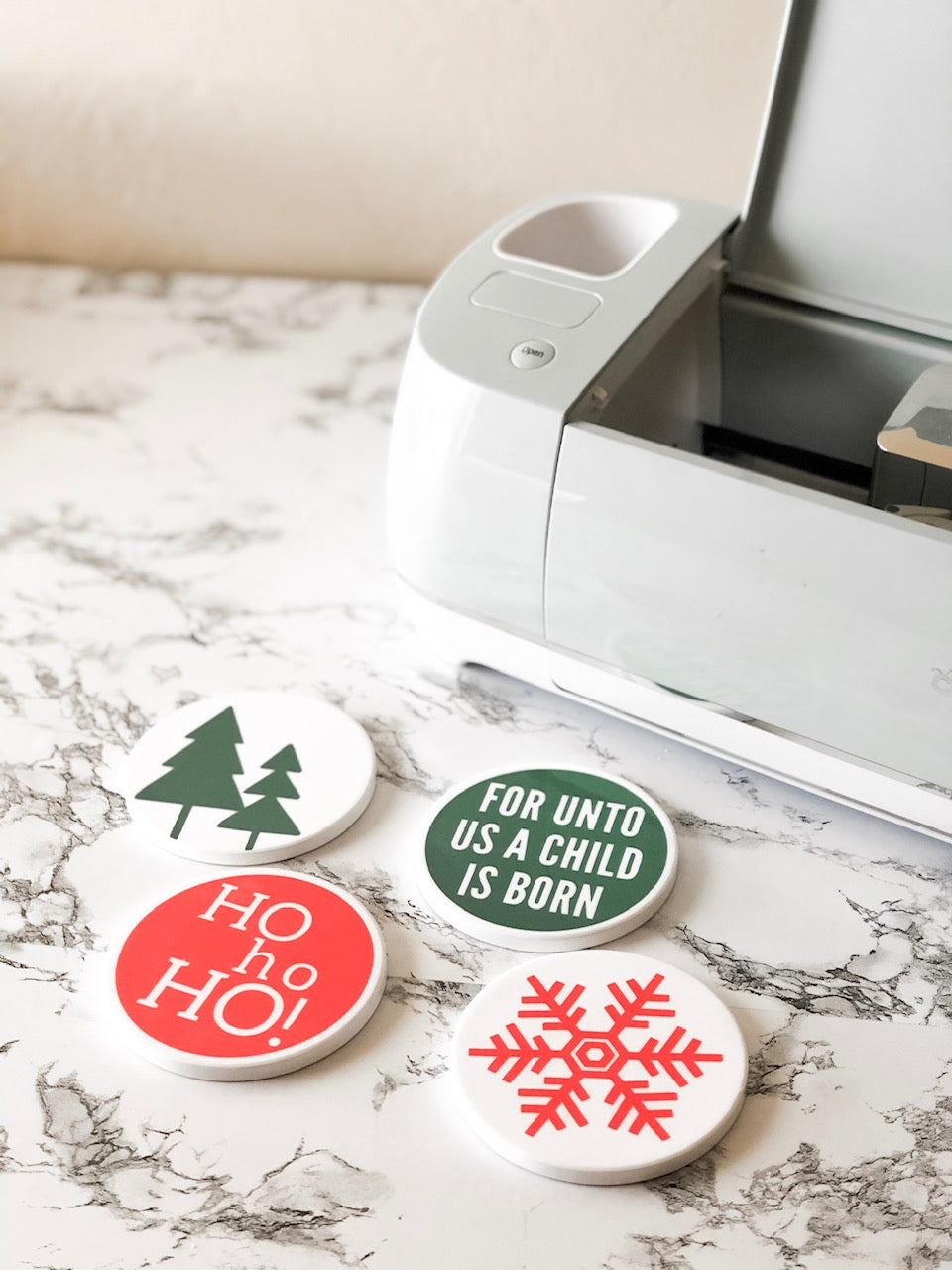 Christmas Coasters with Infusible Ink