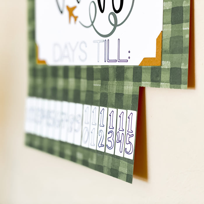 Cricut DIY Project: Vacation Countdown Calendar