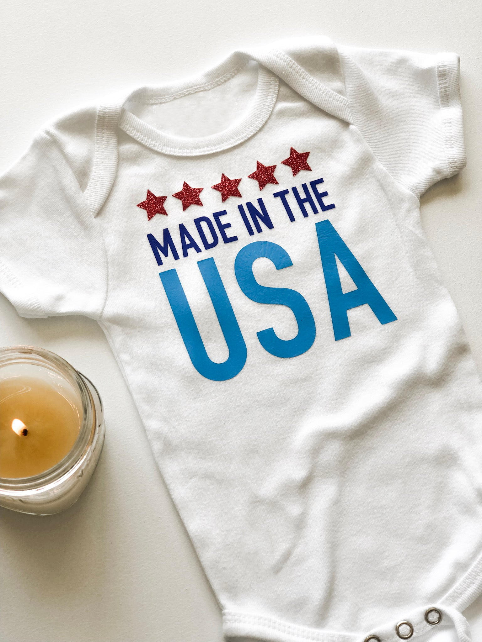 4th of July Baby Onesie with Cricut EasyPress2