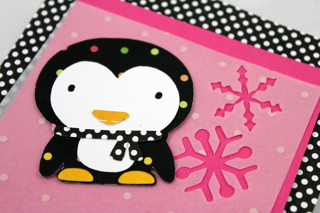 Create A Critter Penguin & Polka Dot Party Invitation
