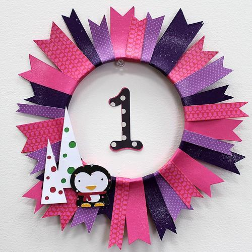 Penguins, Polka Dots & Tons Of Fun – Pennant Wreath